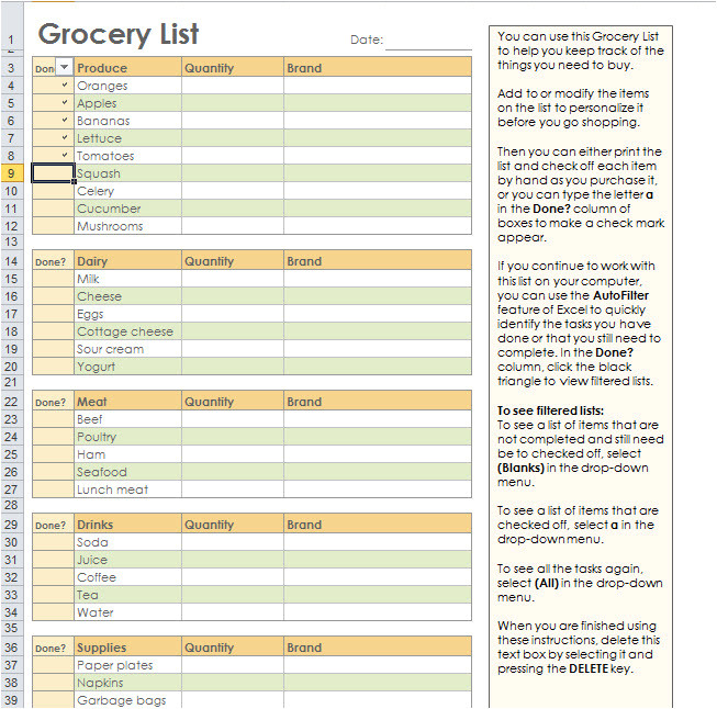 grocery list template for mac atemberaubend grocery list vorlage wort bilder bilder fur das 2