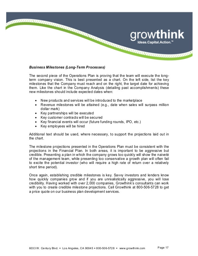 growthink ultimate business plan template free