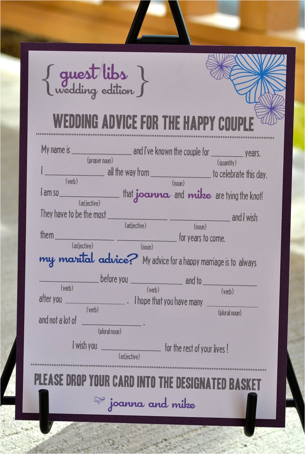 free wedding guest mad libs template