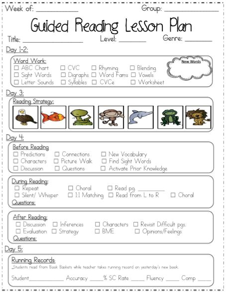 shared reading lessons for first grade
