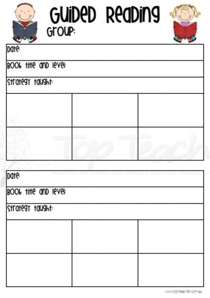 Guided Reading Observation Template Guided Reading Observation Chart Reading Pinterest