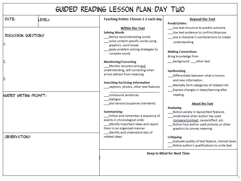make guided reading manageable