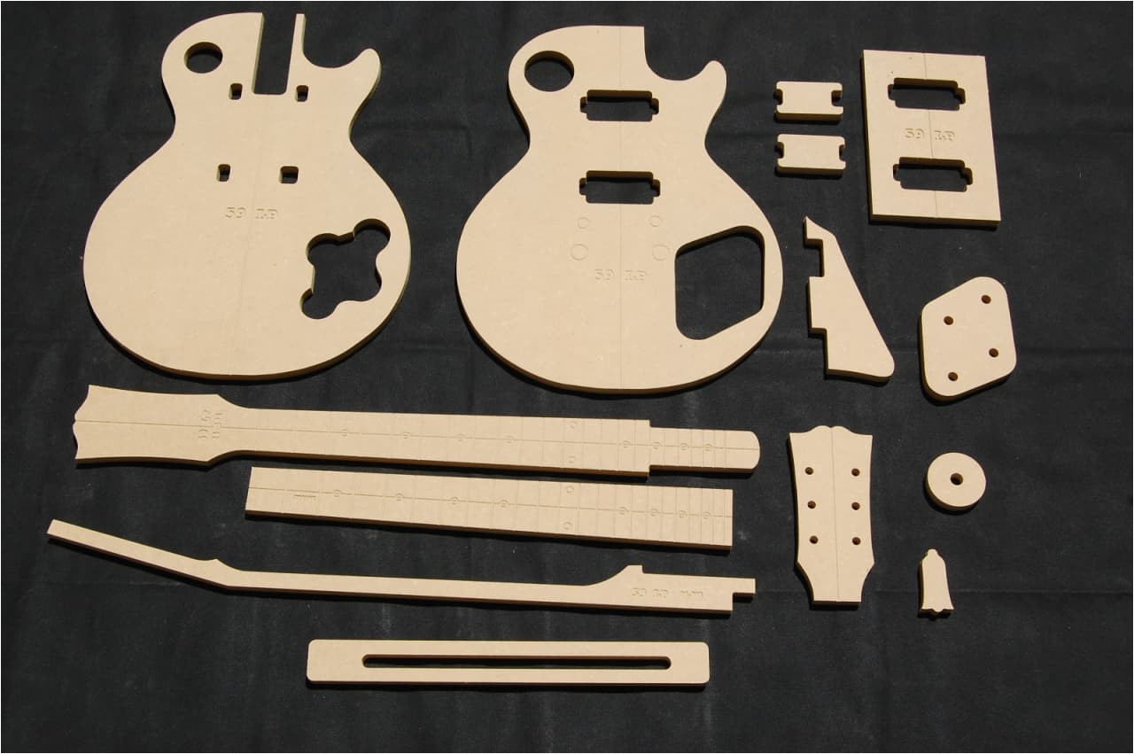 2816467 59 lp guitar router template set 1 2 mdf cnc luthier building tools