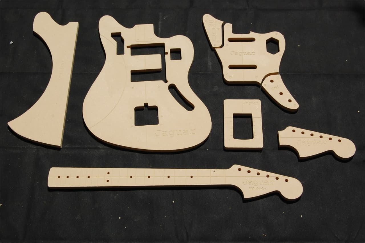 2817560 jaguar guitar router template set 1 2 mdf cnc luthier building tools