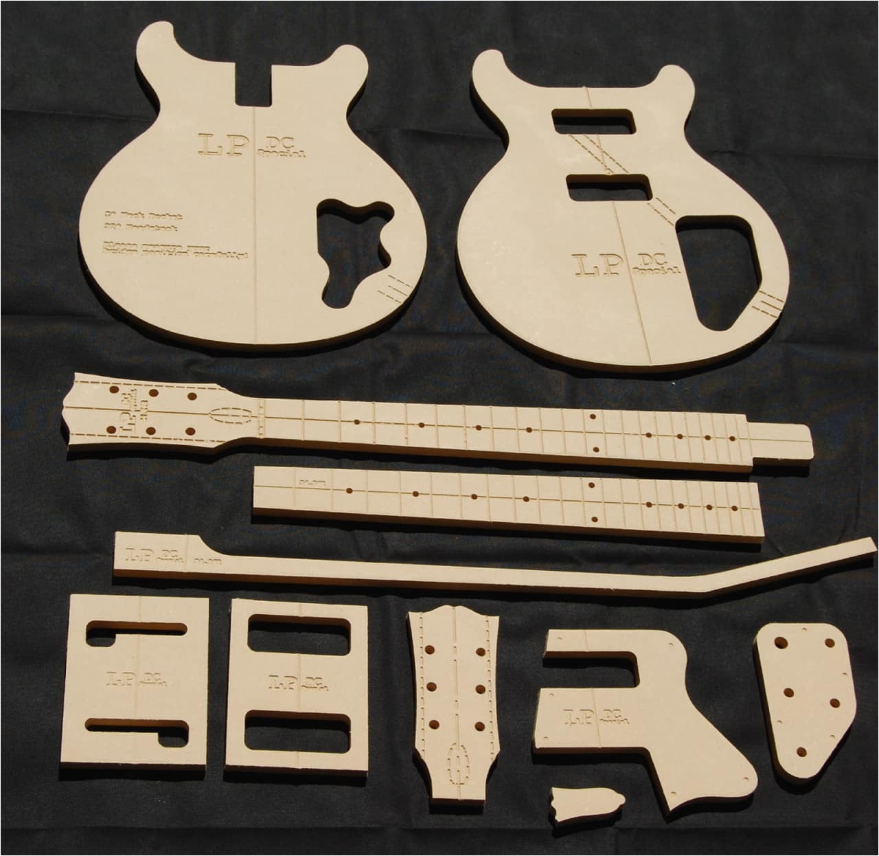2816595 lp dc special guitar router template set 1 2 mdf cnc luthier building tools