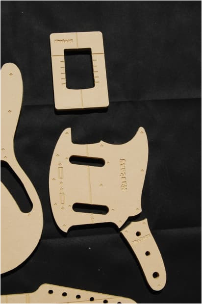 2817614 mustang guitar router template set 1 2 mdf cnc luthier building tools