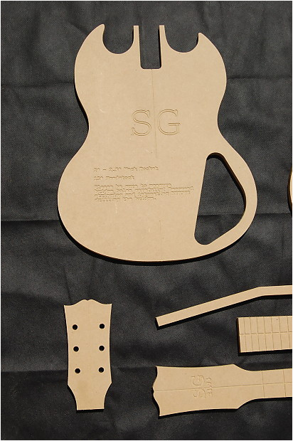 Guitar Router Templates Sg Guitar Router Template Set 1 2 Quot Mdf Cnc Luthier