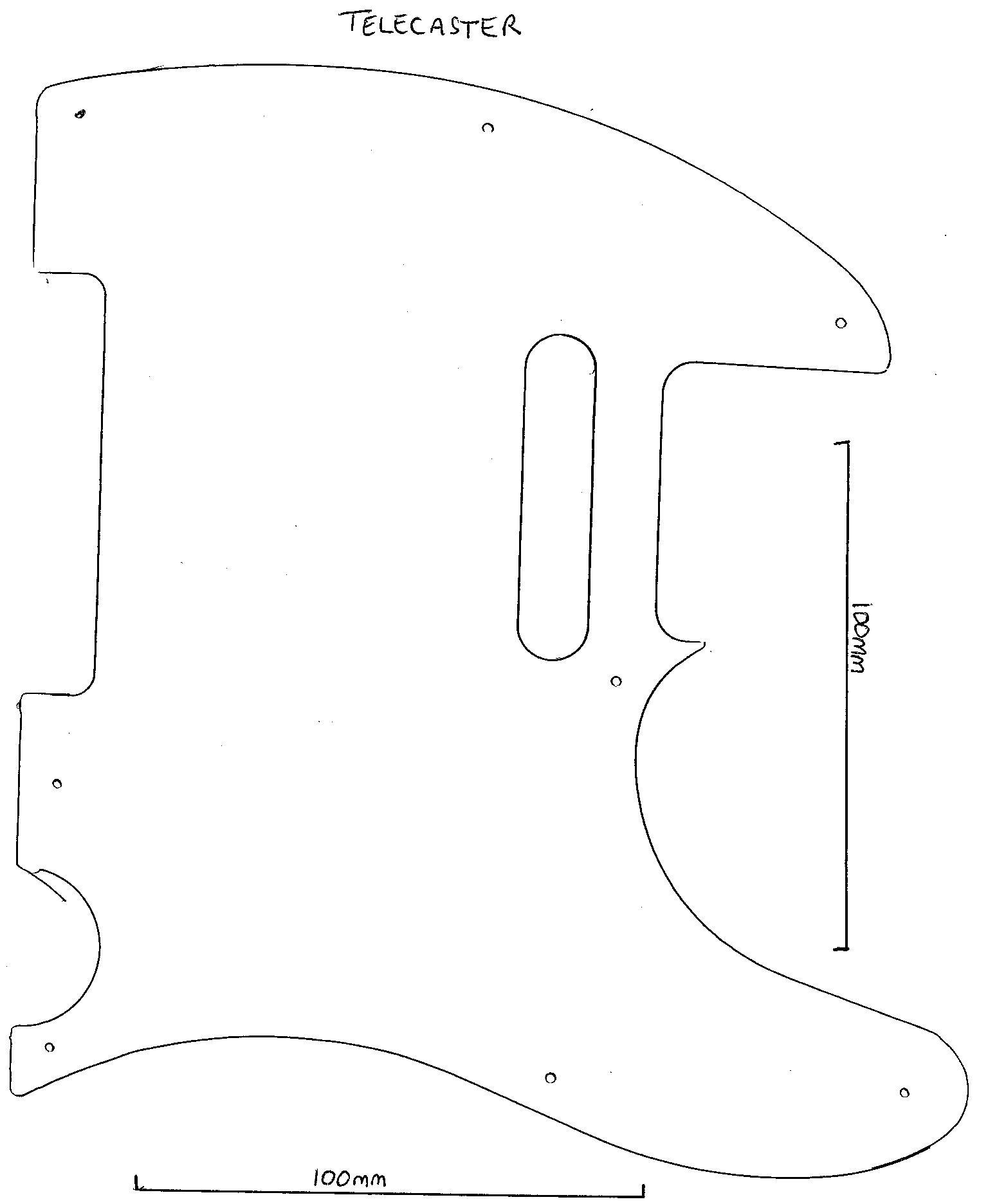 guide guitar neck shape templates