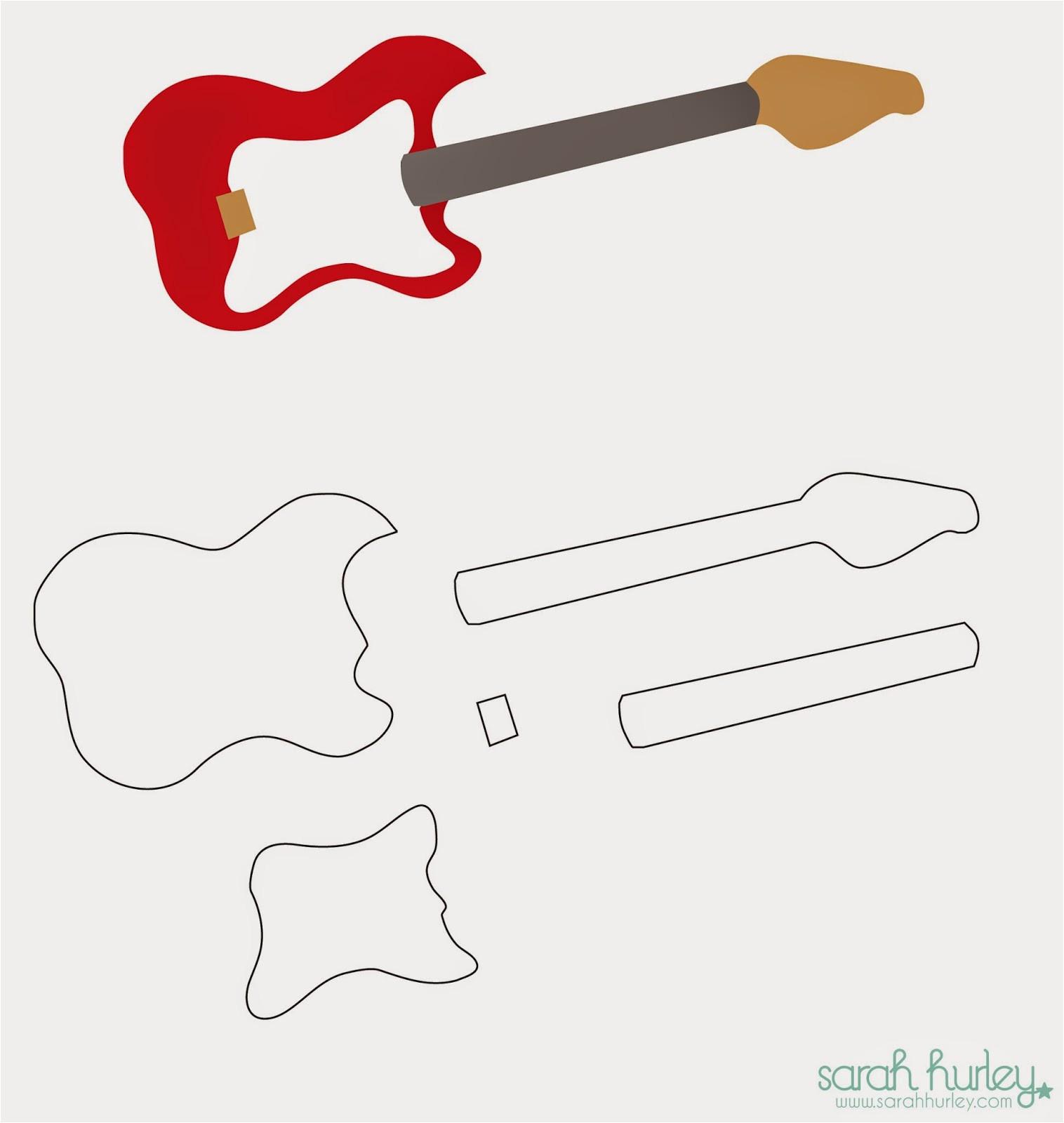 Guitar Templates Uk Sarah Hurley Blog You Rock Card Guitar Template