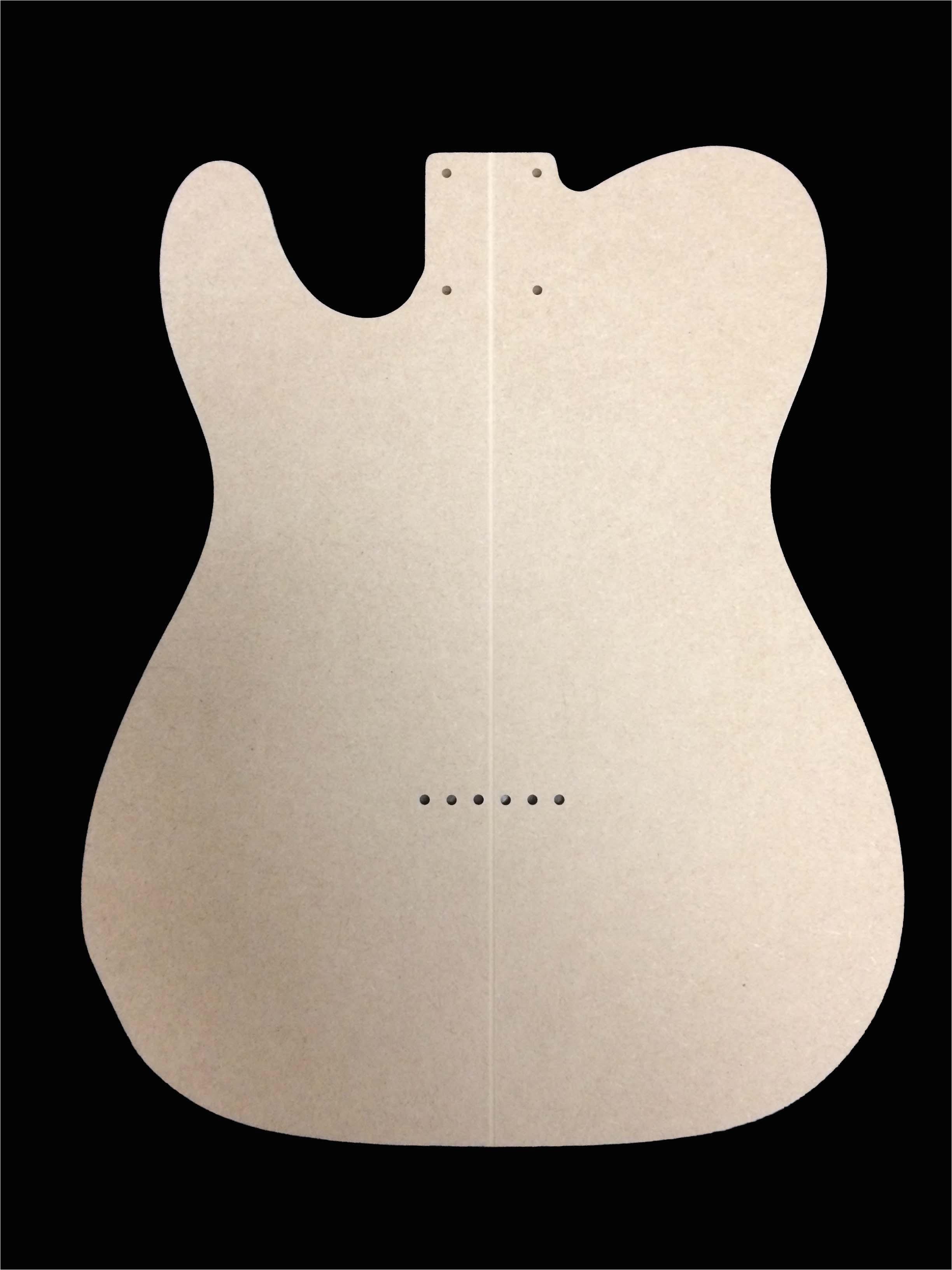 telecaster guitar template 2