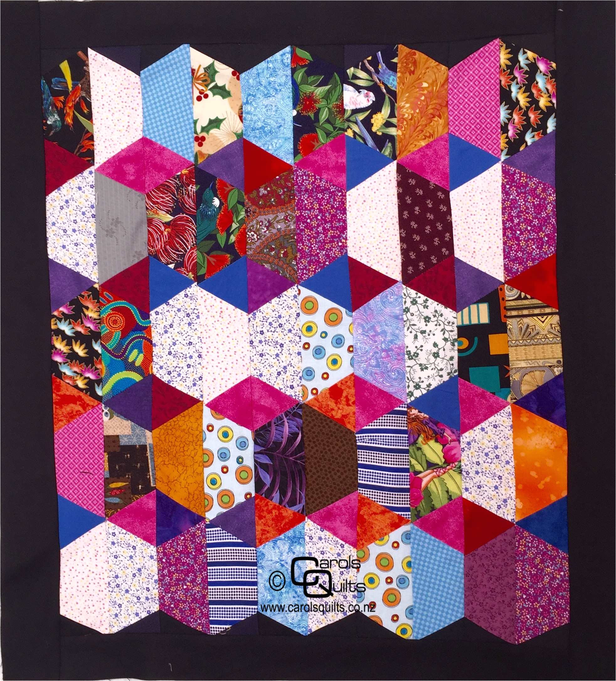 free half hexagon quilt patterns