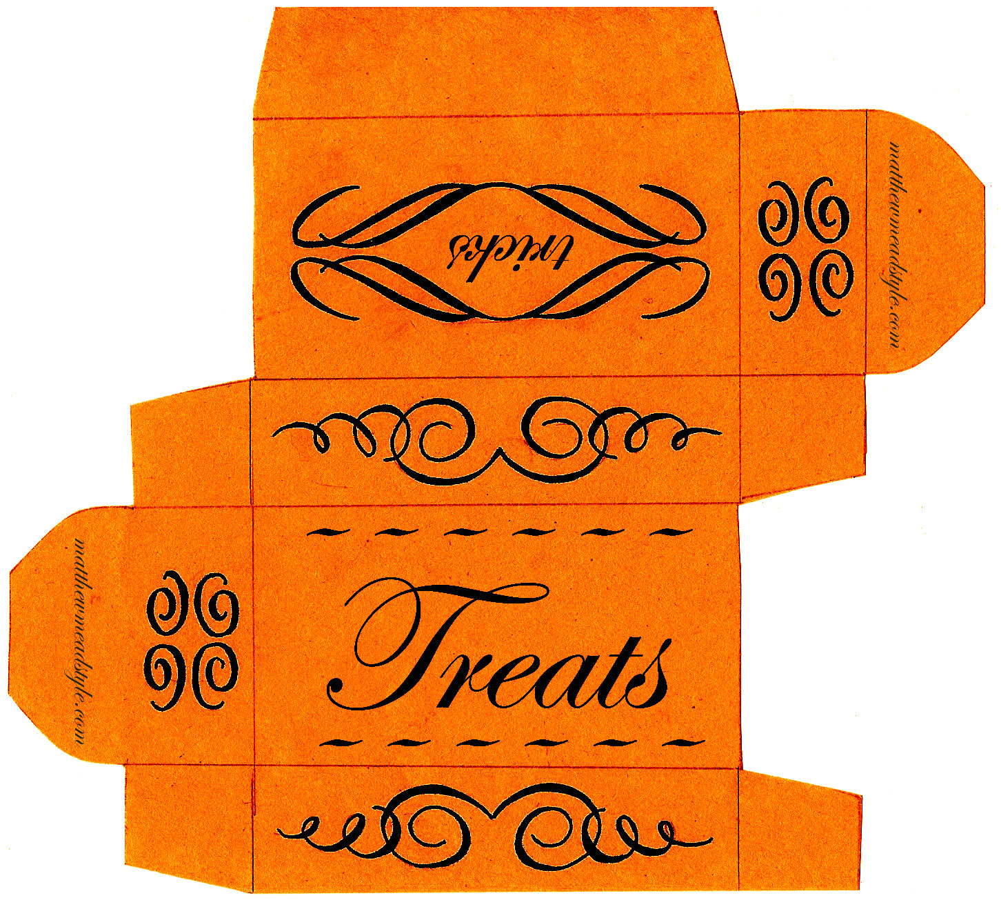 post free printable halloween treat boxes template 365904