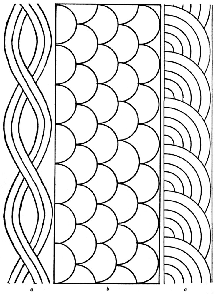 rope shell fan quilting pattern large