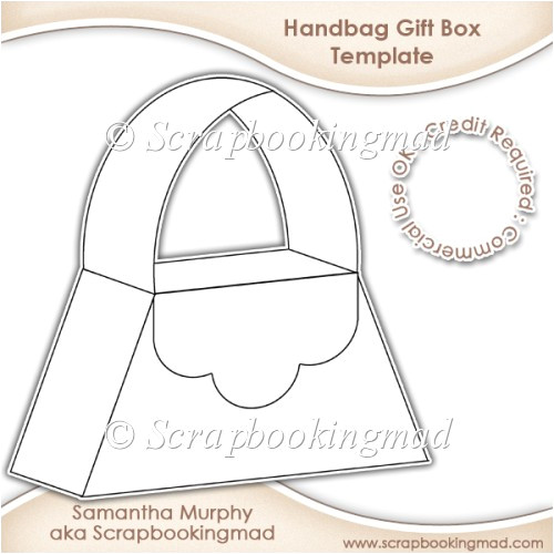 Handbag Gift Box Template Handbag Gift Box Template Cu Ok 3 50 Scrapbookingmad Com