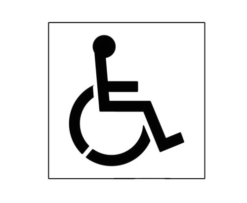 20 handicap symbol stencil