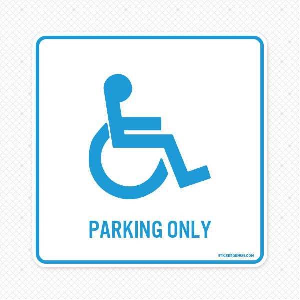 handicap parking wall graphic