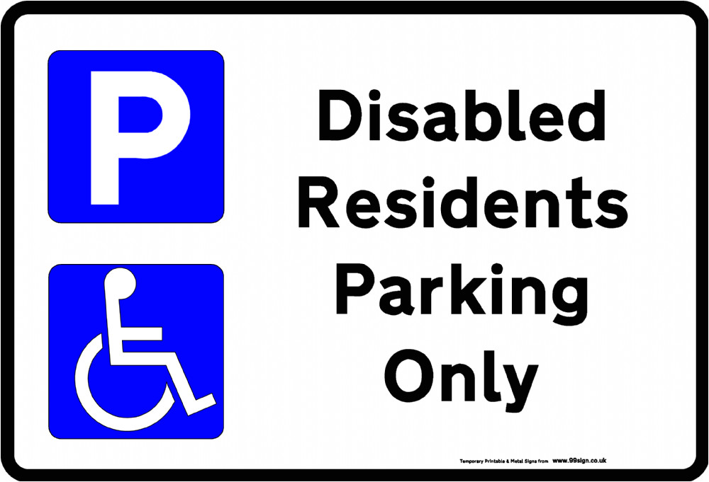 printable disabled parking sign free template for residents clip art or low cost vinyl 497 p