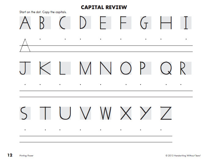 Handwriting without Tears Letter Templates 8 Best Images Of Handwriting without Tears Preschool