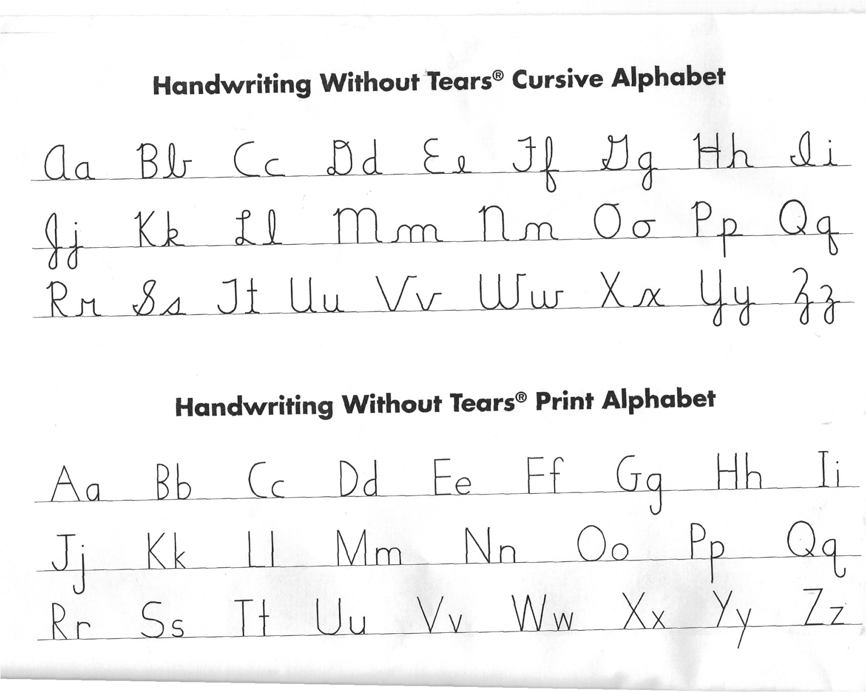 cursive or print in everyday writing