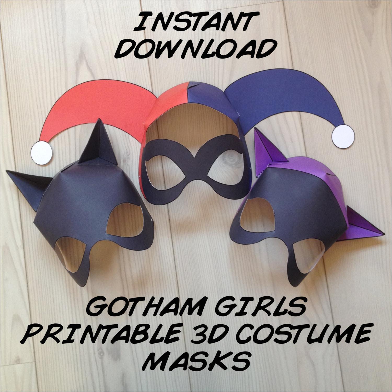 gotham girls inspired 3d printable masks