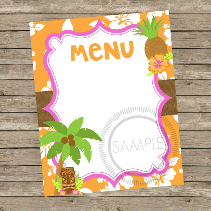 blank menu templates