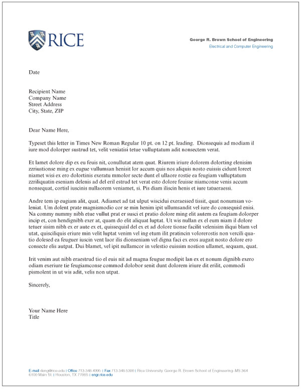 letterhead letter 736