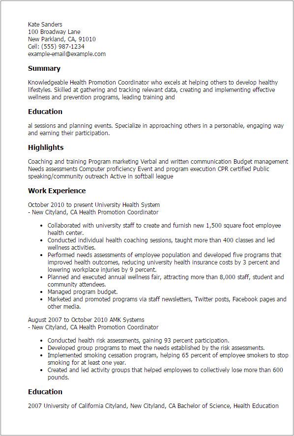 4529 cover health letter promotion job