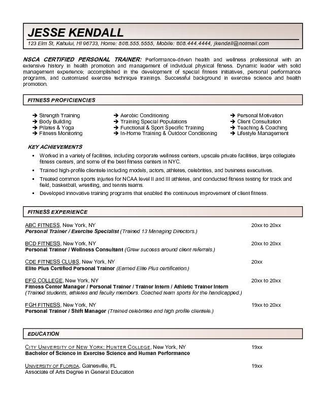 health promotion resume