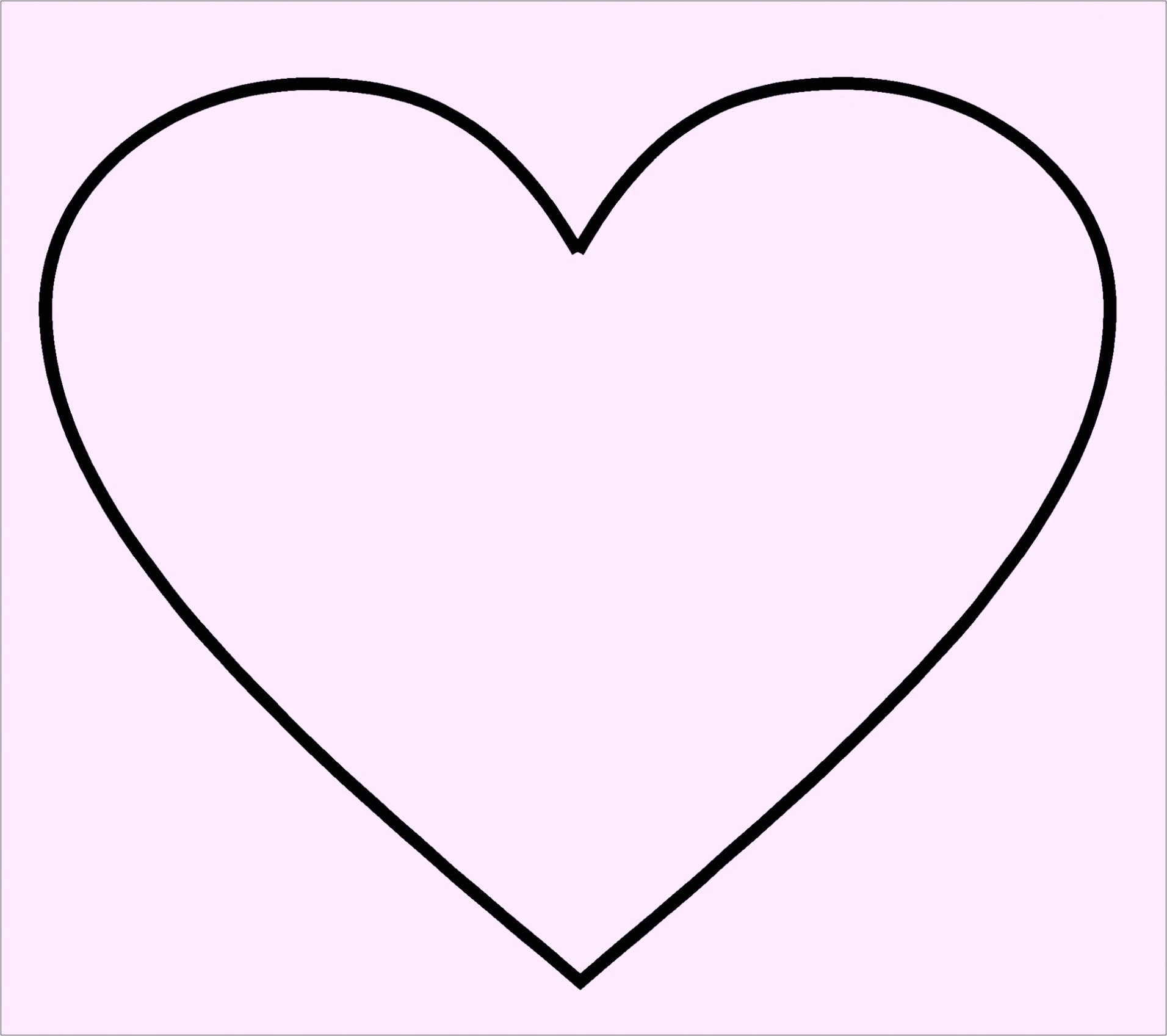 Heart Template for Printing Free Printable Heart Shape Template