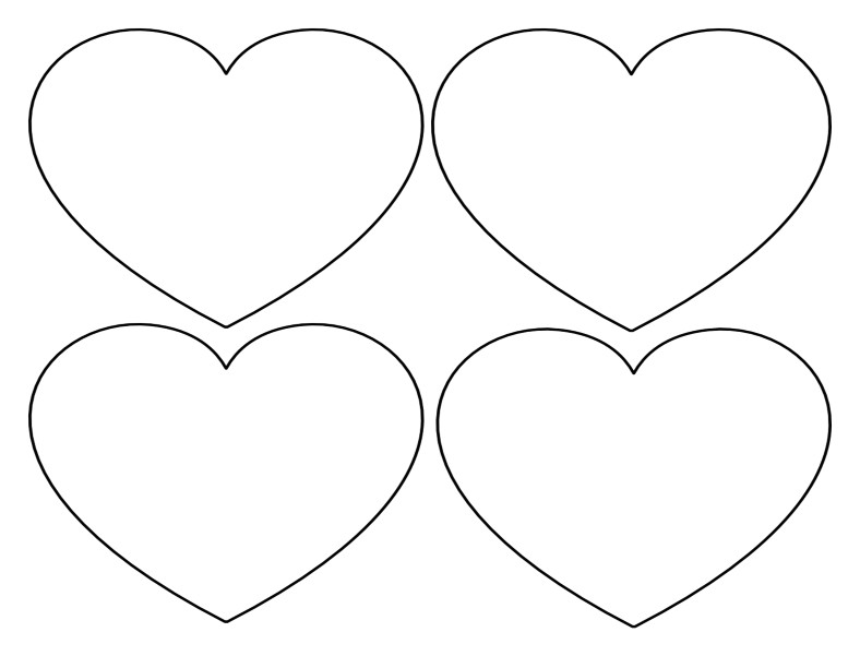 free heart templates large small stencils