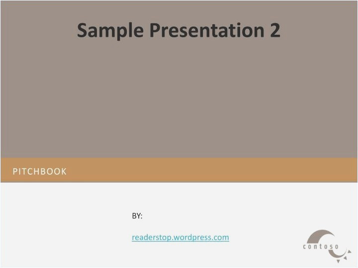 pitchbook template powerpoint