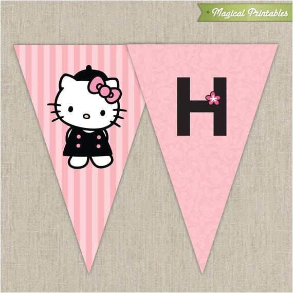 hello kitty paris birthday banner