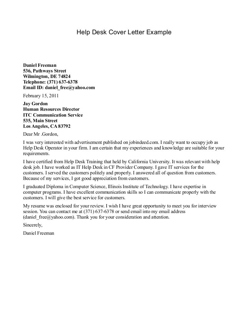 help with writing a cover letter