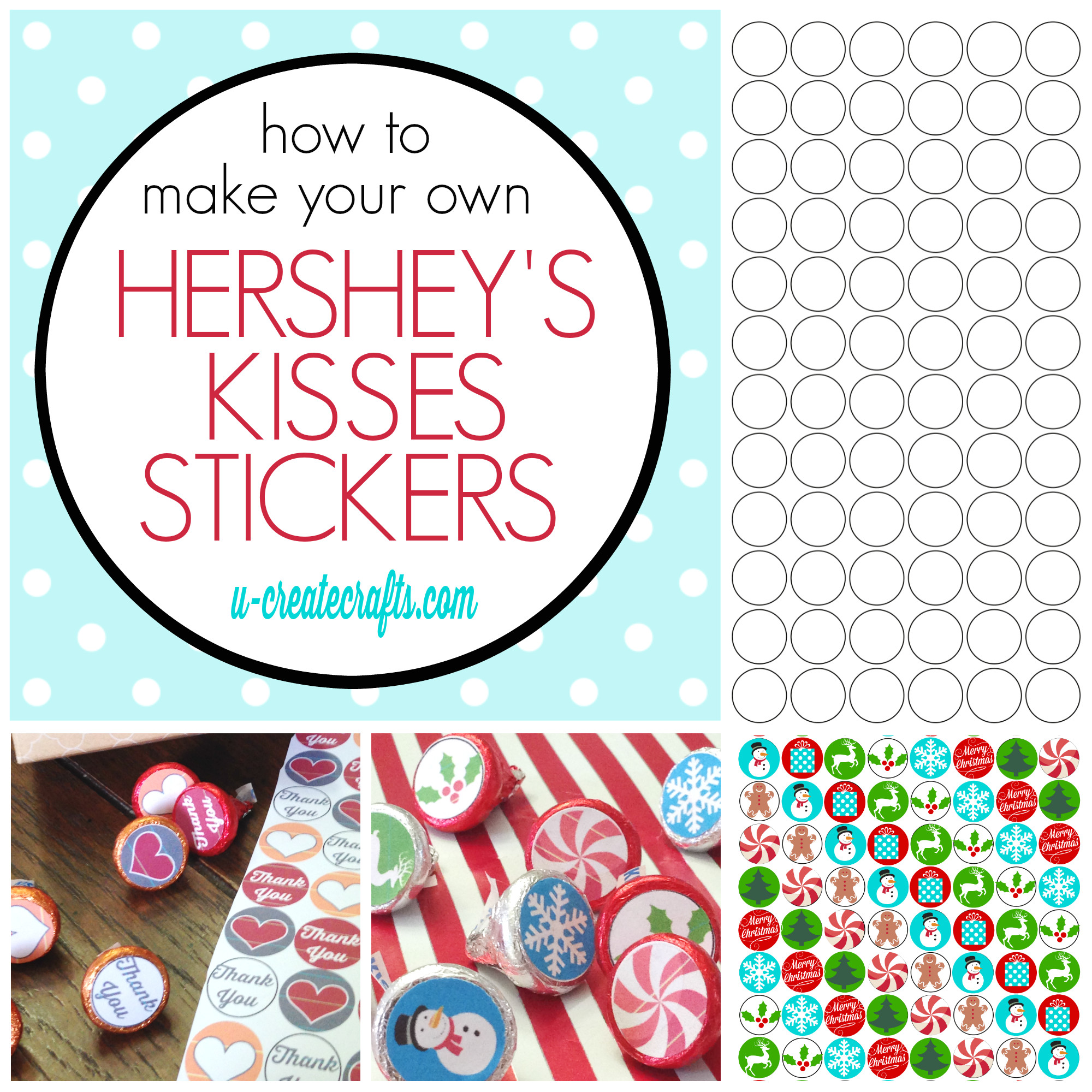 make hershey kisses stickers