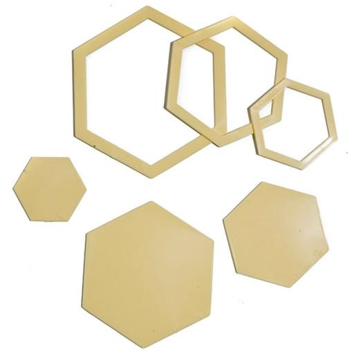 hexagon patchwork templates