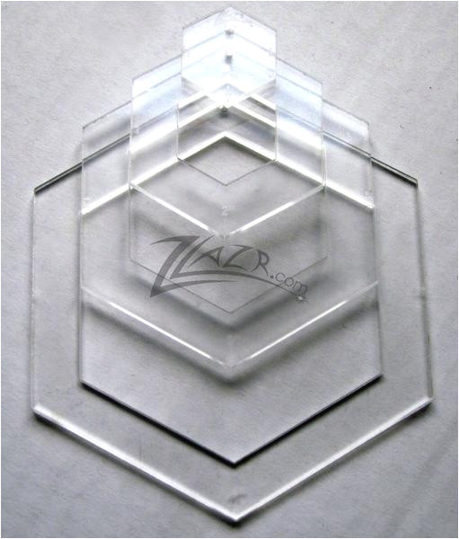 template nested 4 x 1 8 hexagon acrylic plastic stencil quilting