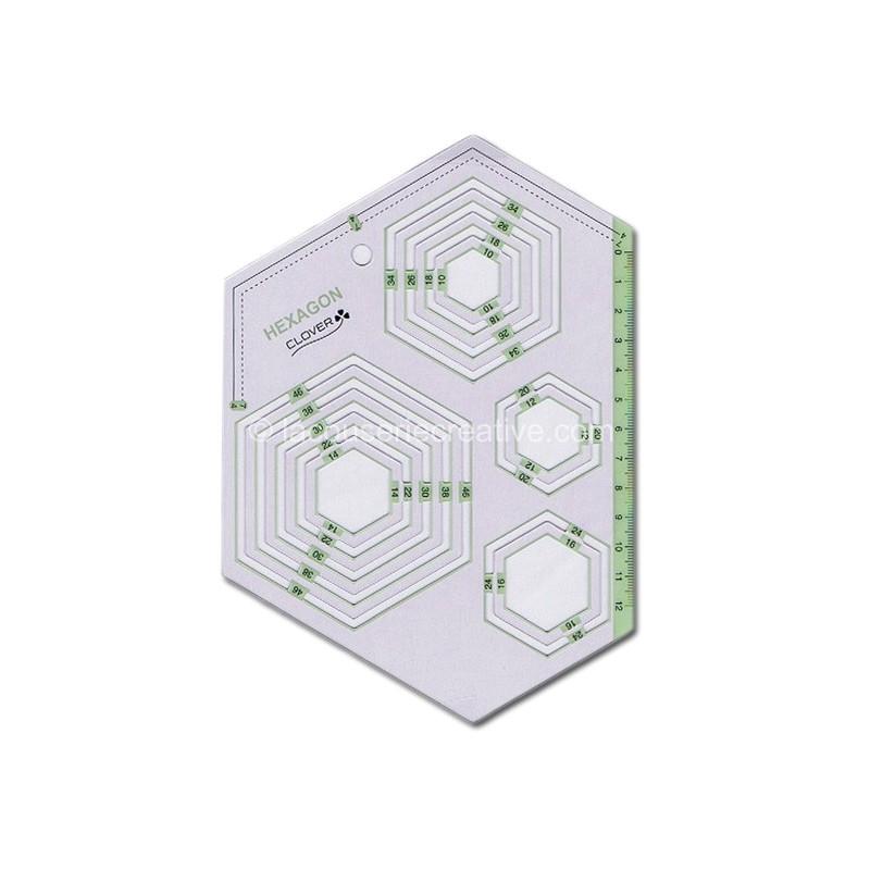 3035 rulertemplate hexagon clover