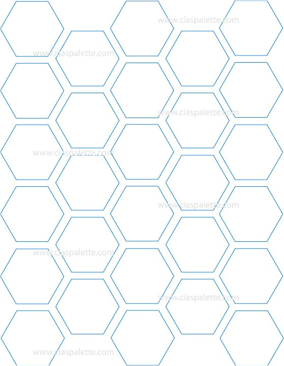 Hexagon Template for Paper Piecing Keeps the Spacing Between Tiels but Gives Full Coverage