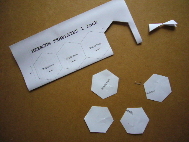 hexagon template for english paper