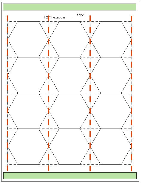 printable hexagons