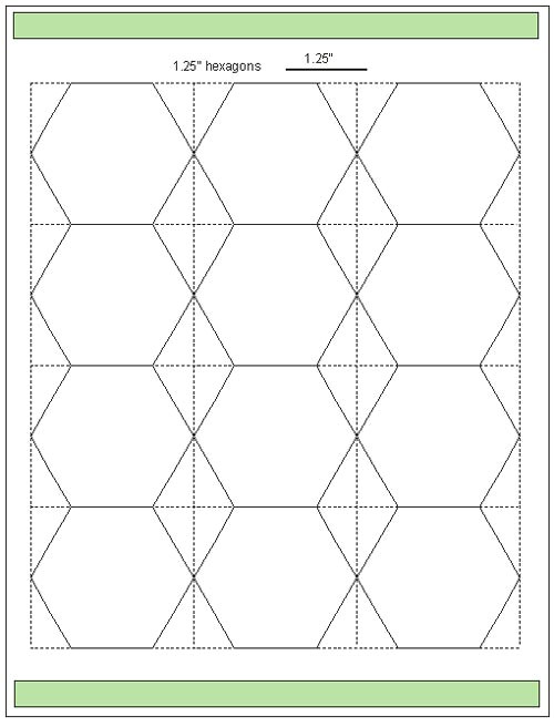 tips for cutting hexagon templates