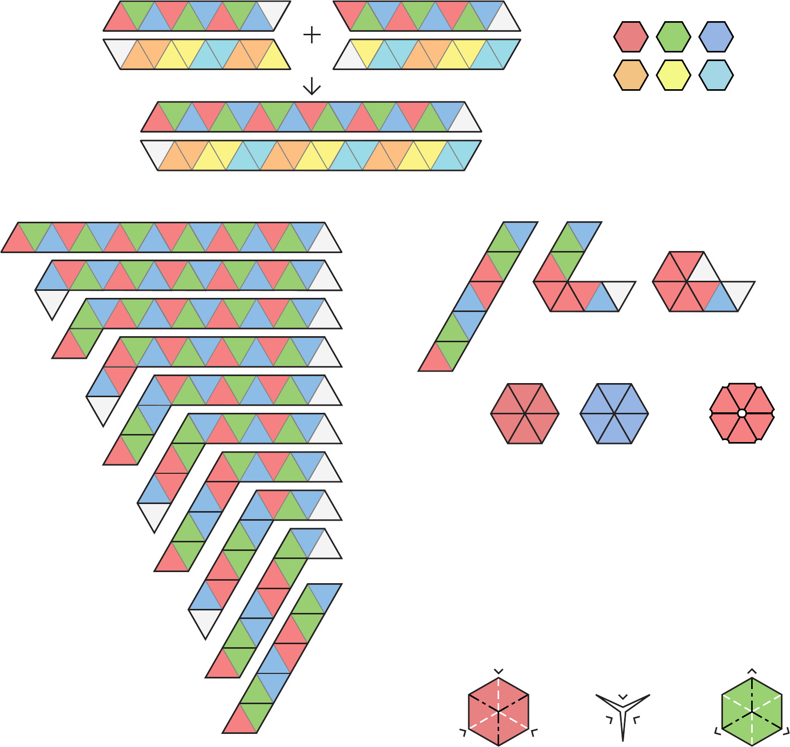 free blank and decorated hexahexaflexagon template