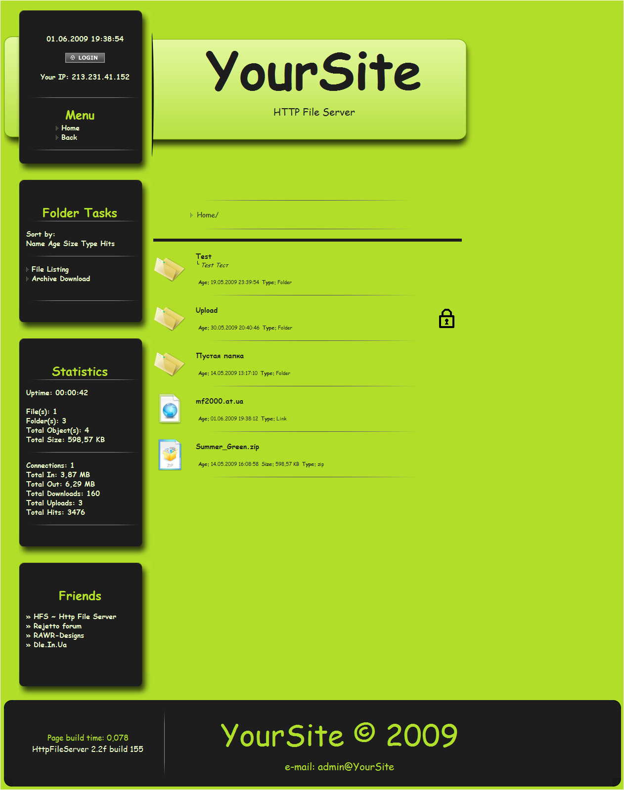 Hfs Server Templates Hfs Template
