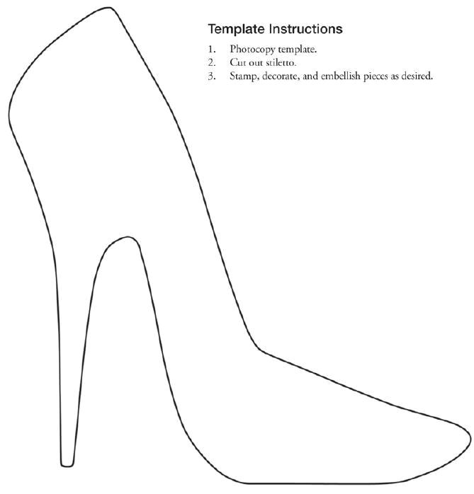 High Heel Template for Cards Free Printable Stiletto Shoe Template Collage