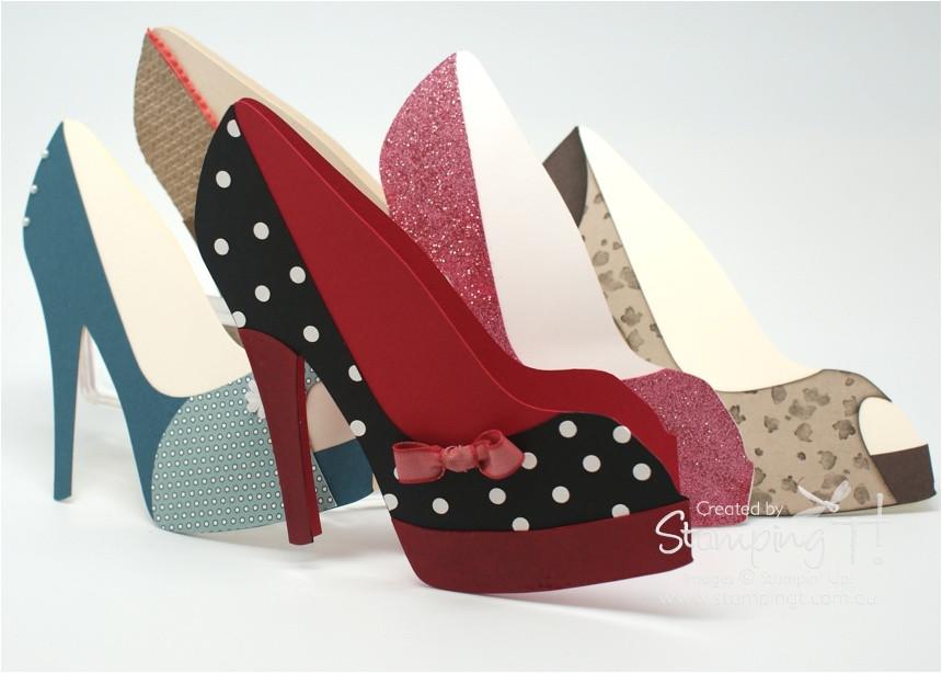 download high heel shoe card