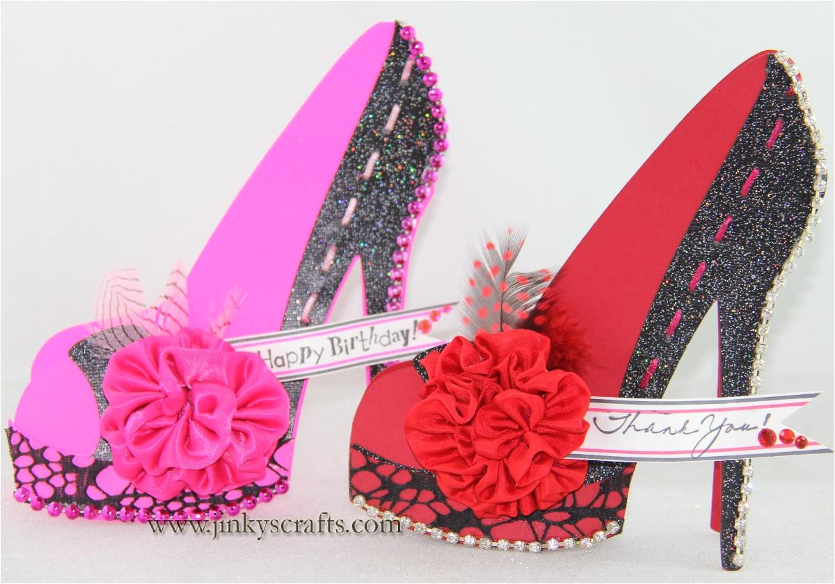 high heel shoe 3d cards
