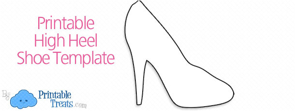 printable high heel shoe template