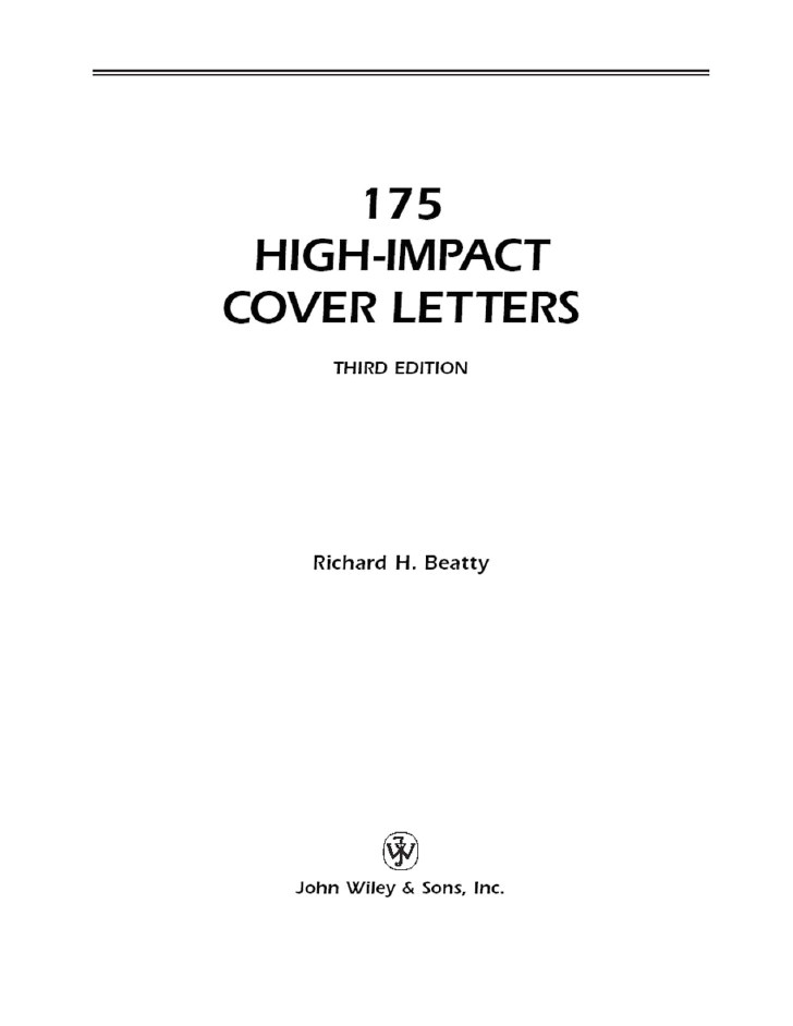 175 high impact cover letter