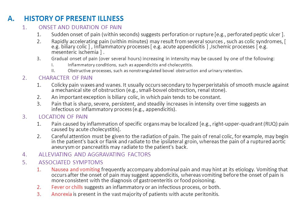 History Of Present Illness Template Acute Abdominal Pain Abdul Kader Weiss M D Ppt Video