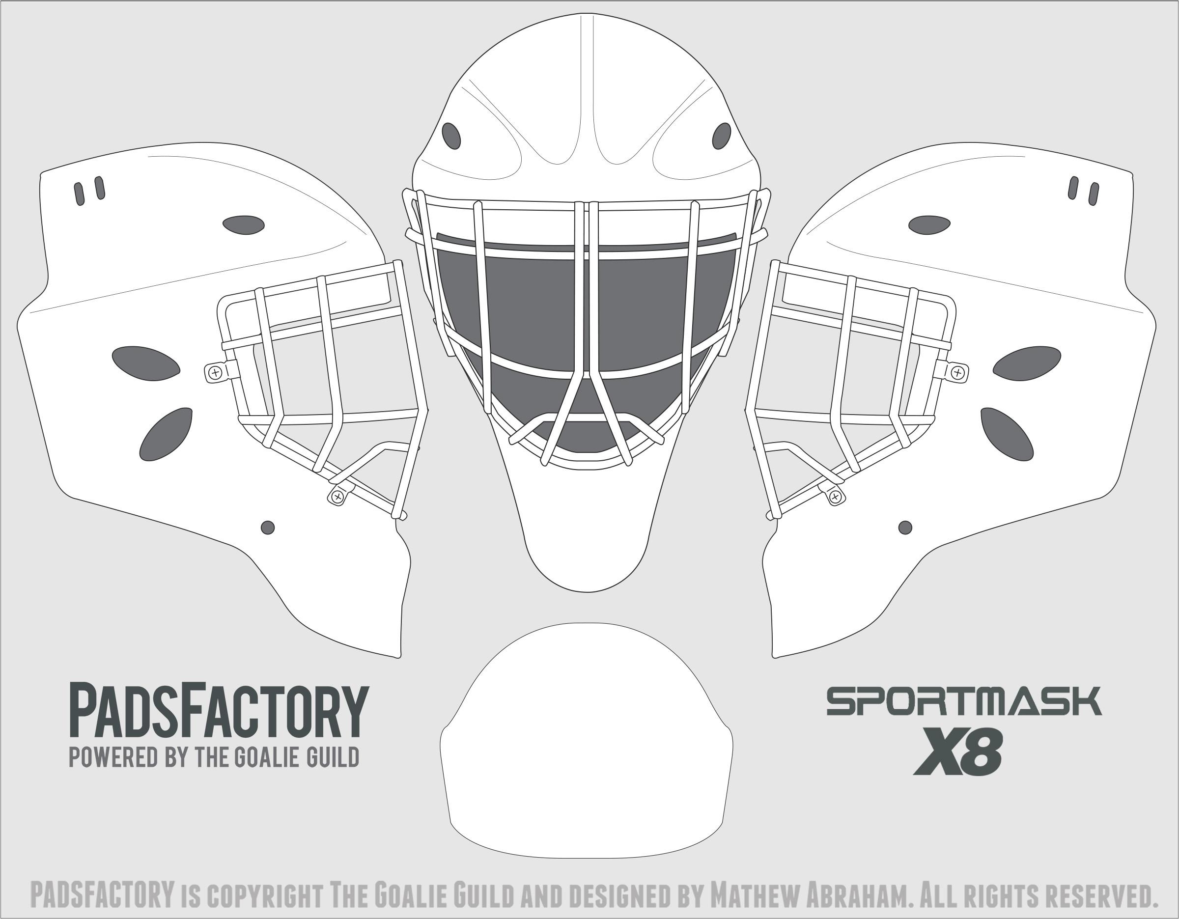bauer goalie mask template